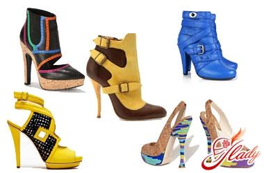женская обувь весна 2016 цвета