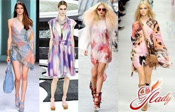 модные вязанные платья 2016
