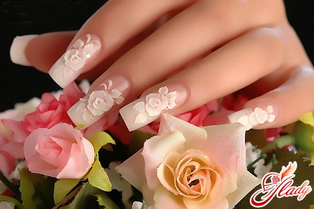 весільний манікюр на свої нігті