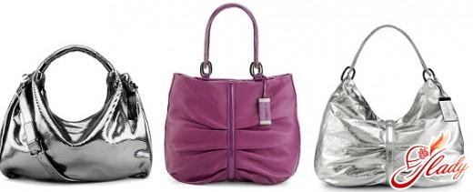 серебряные модные женские сумки 2016 года