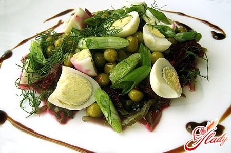салат с морской капустой рецепт