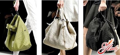 модные женские кожаные сумки - мешок