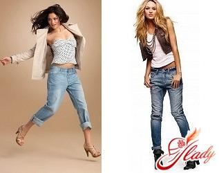 женские джинсы с мотней