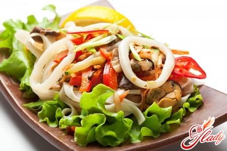 Теплый салат из мидий рецепты 103