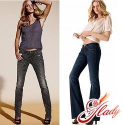 джинсы с мотней женские