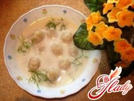 суп з галушками з манки