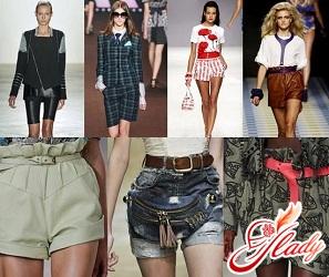 модные шорты весна 2016