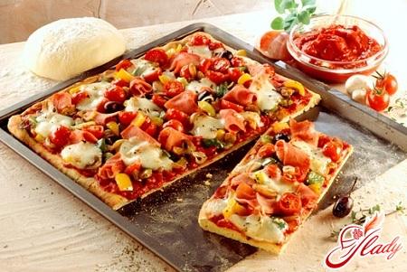 рецепт приготовления пиццы с колбасой