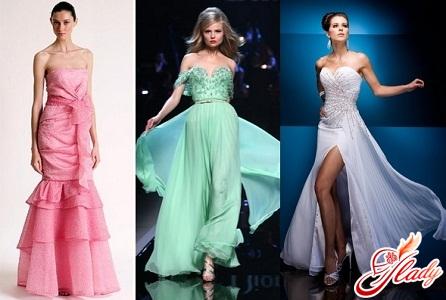 Вечерние платья, праздничные наряды: фасоны и фото.