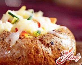 картопля фарширований сиром