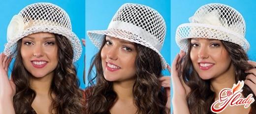 Вязаные летние шляпы крючком