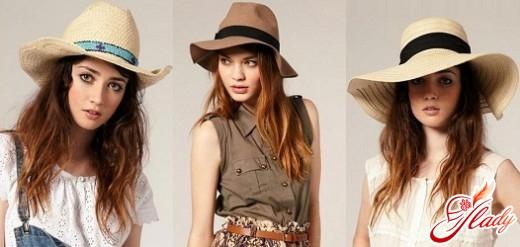 летняя шляпа с широкими полями