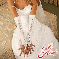 свадебные перчатки без пальцев фото