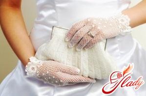 свадебные перчатки короткие фото
