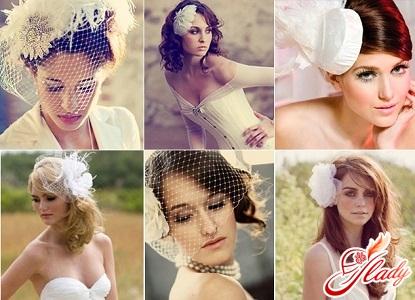 свадебные шляпки с вуалью