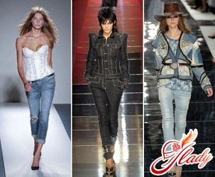 что носить с узкими джинсами
