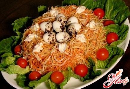 Гнездо глухаря салат рецепт с языком 96