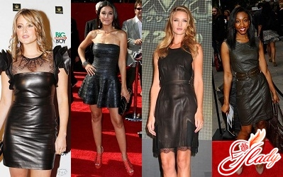 кожаные платья 2011