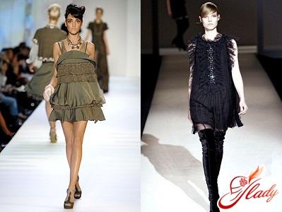 модные осенние платья 2011