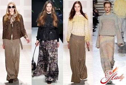 Длинные юбки фото осень зима