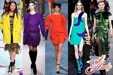яркие модные цвета одежды осень 2011
