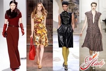 тенденции моды осень 2016 платья