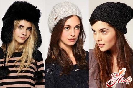 шапки женские вязаные