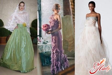 Цвет свадебного платья в соответствии с порой года
