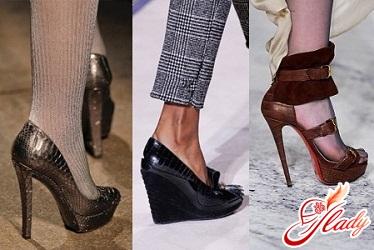 туфли с толстым каблуком