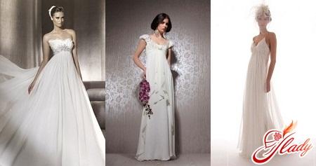 свадебные платья 2016 в стиле ампир