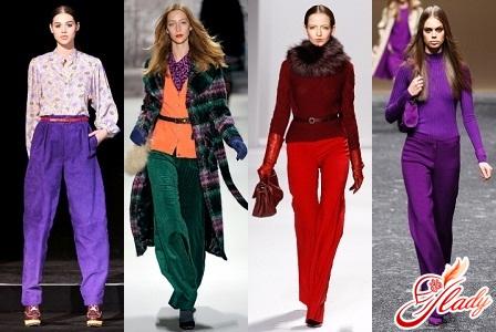 женские брюки осень 2016 зима 2017