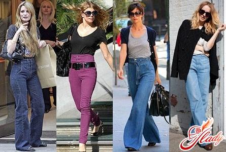 джинсы с высокой талией фото