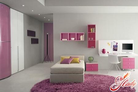 красивый интерьер детской комнаты для подростка девочки
