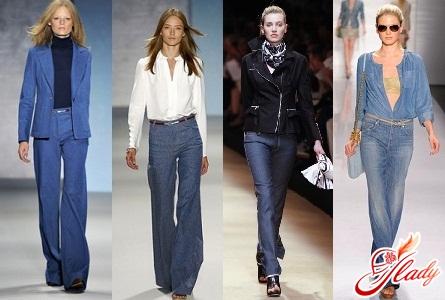 модные джинсы клеш осень зима 2016/2017