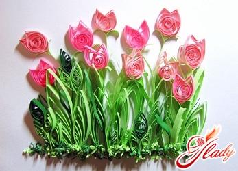 квіти квіллінг