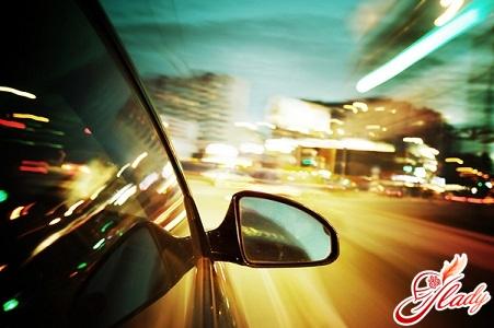 Правила вождения автомобиля в темное время суток