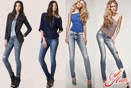 модные узкие джинсы осень зима 2016/2017