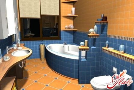 интерьер ванной комнаты и туалета фото