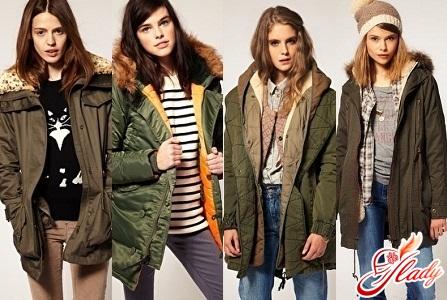 куртки парки женские