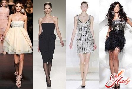 Короткие новогодние платья 2012 - прекрасный вариант для счастливых...