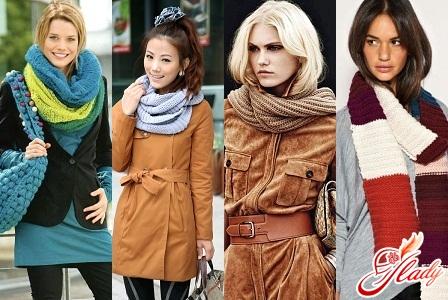 шарфы женские вязаные