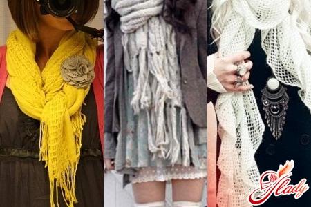 шарфы женские вязаные спицами