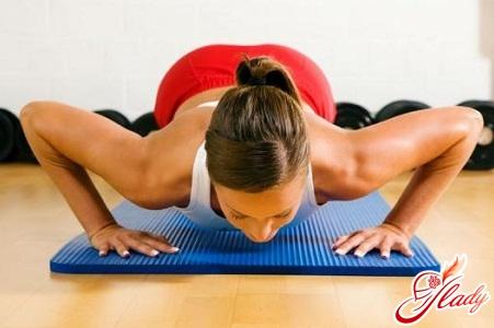 для груди упражнения