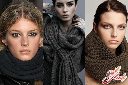 шарфы женские осень - зима