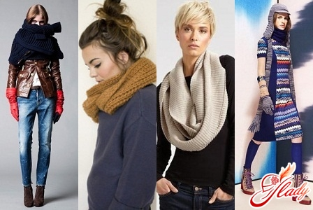 Модные вязаные женские шарфы