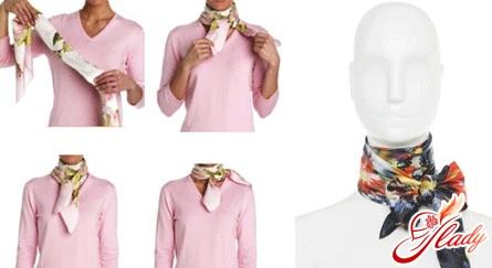 как носить шарф стильно фото - узел бант