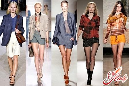 модели зимних женских шорт