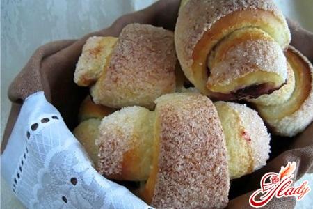 творожное печенье-рогалики