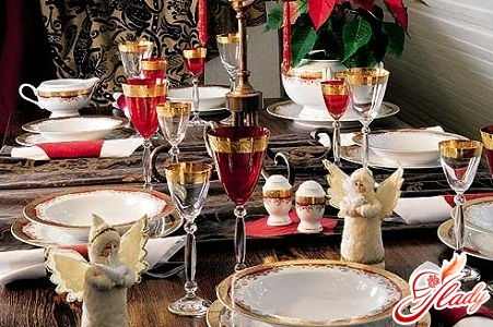сервировка новогоднего стола дома