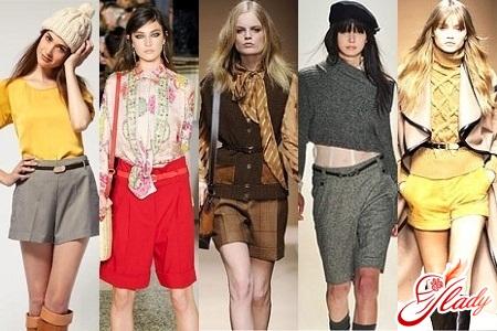зимние женские шорты с ремешком классические